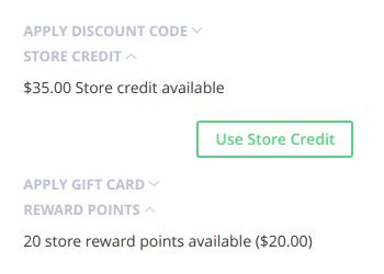 RewardPoints and StoreCredit
