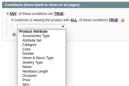 Product Attribute Conditions