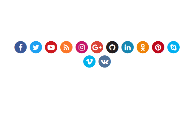 Colorful social icons. (.colorize-fa, .colorize-fa-hover classes)