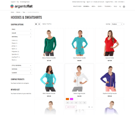 ArgentoFlat category page
