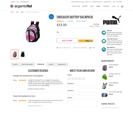 ArgentoFlat product page