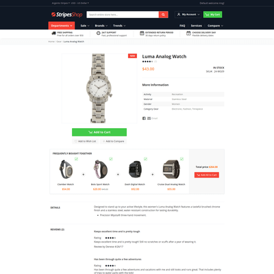 ArgentoStripes product page