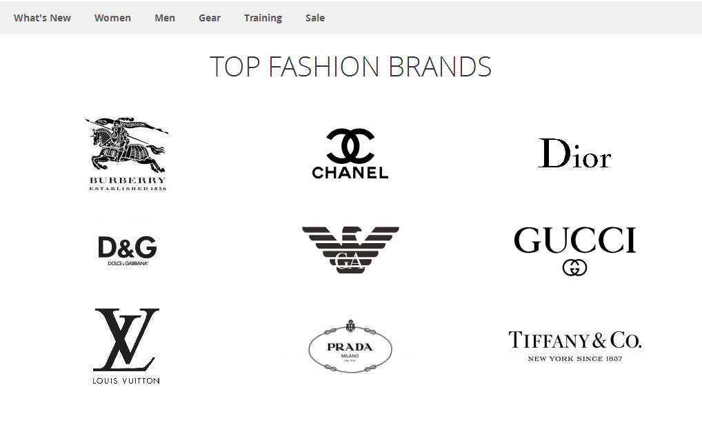 Top Fashion Brands