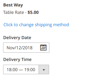 Delivery date at backend order edit page