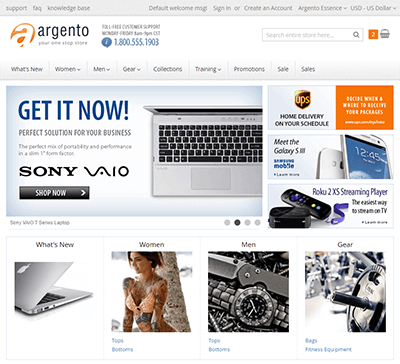 EasyCatalogImages widget at Argento homepage