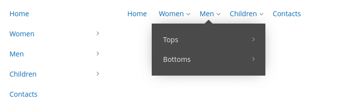 Dark dropdown theme
