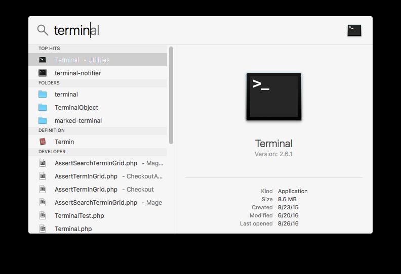 Running terminal