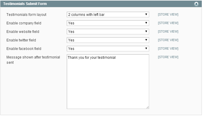 Testimonials Submit Form Section