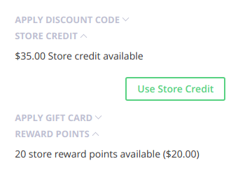 RewardPoints and StoreCredit