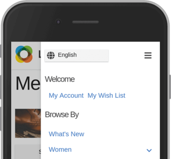 Sidebar with language switcher, welcome links and site navigation