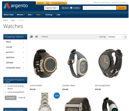 ArgentoMall category page