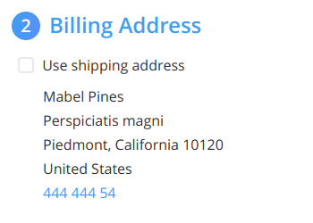 Ability to place billing address below shipping address