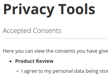 Privacy Tools Page