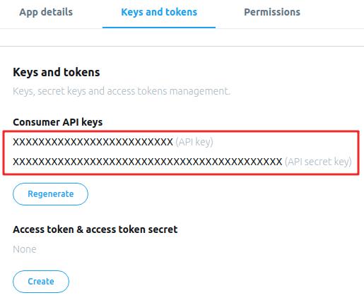 Twitter API Configuration